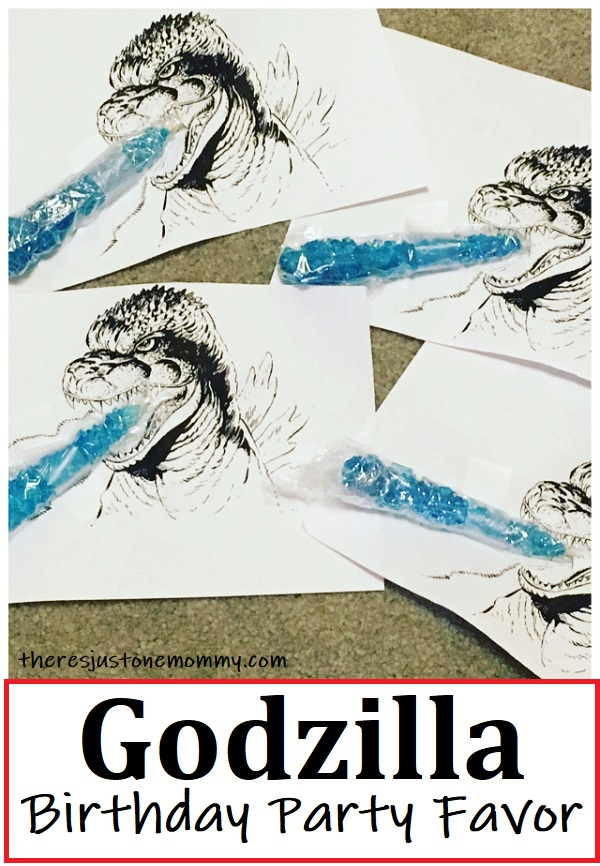 party favor for kids Godzilla party