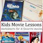 Disney movie worksheets for kids