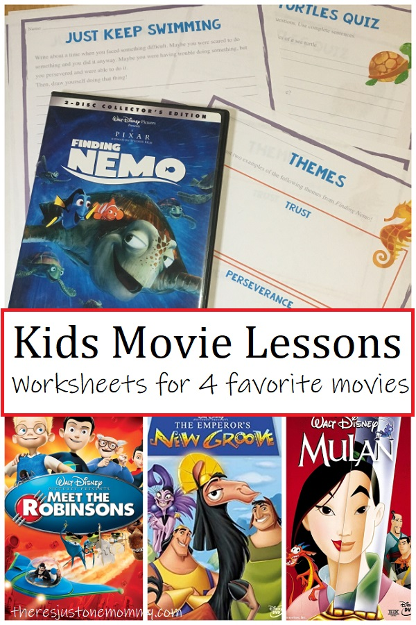 Disney movie worksheets for kids