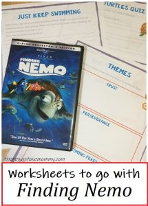 lesson plan for Finding Nemo