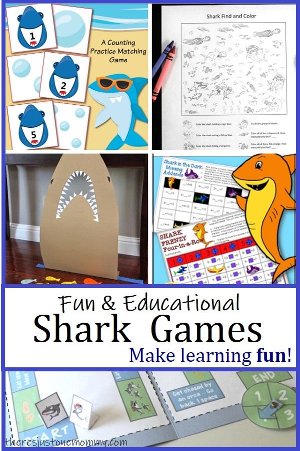 educational shark themed games