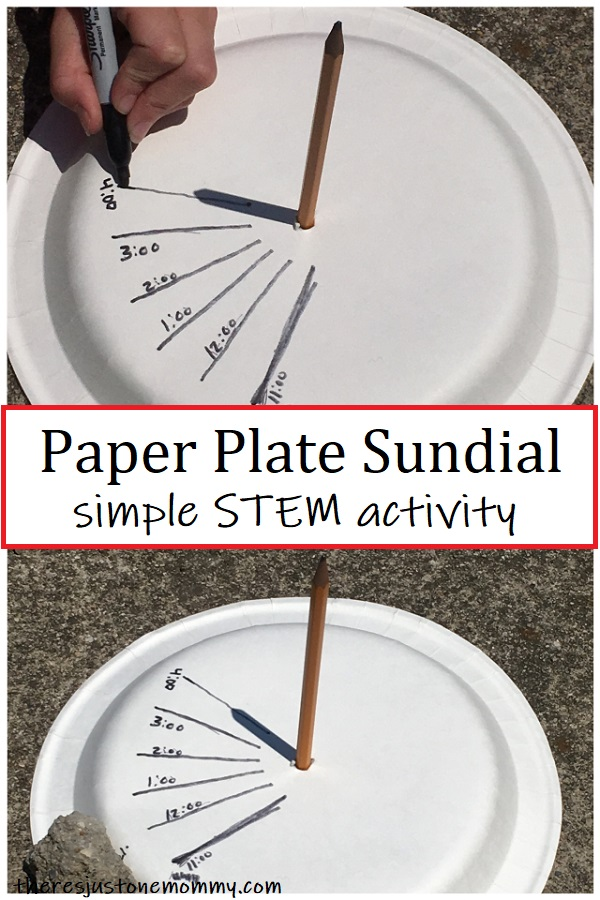 paper plate sundial -- simple STEM activity
