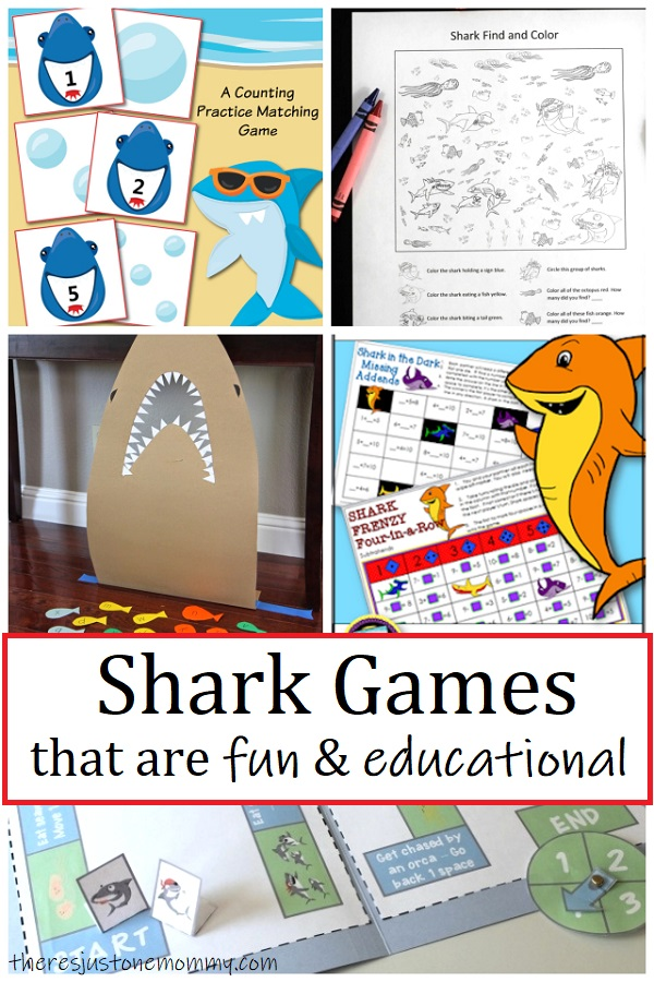shark themed math games and other educational shark games