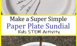 how to make a paper plate sundial
