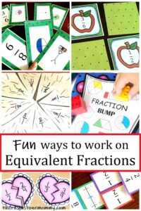 fun ways to help kids work on equivalent fractions