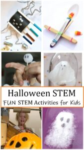 kids STEM activities for Halloween
