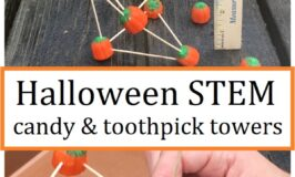 Halloween STEM activity: toothpick and candy structure
