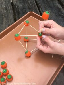 STEM activity with toothpicks
