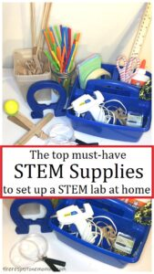 list of most often used STEM materials to create your own STEM lab