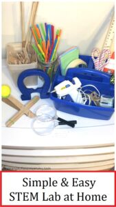 how to set up STEM materials at home