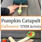 pumpkin craftstick catapult Halloween STEM activity