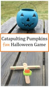 catapulting candy pumpkins STEM activity
