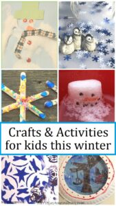 simple and fun crafts & activities for winter