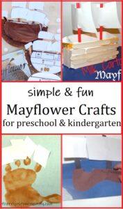 preschool & kindergarten Mayflower ship crafts