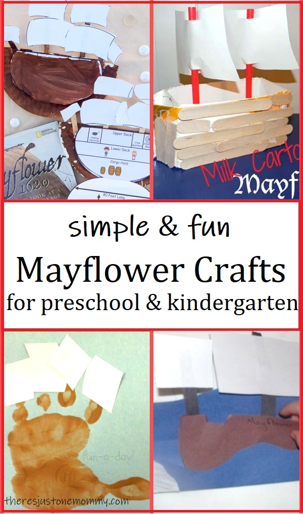 preschool & kindergarten Mayflower craft ideas