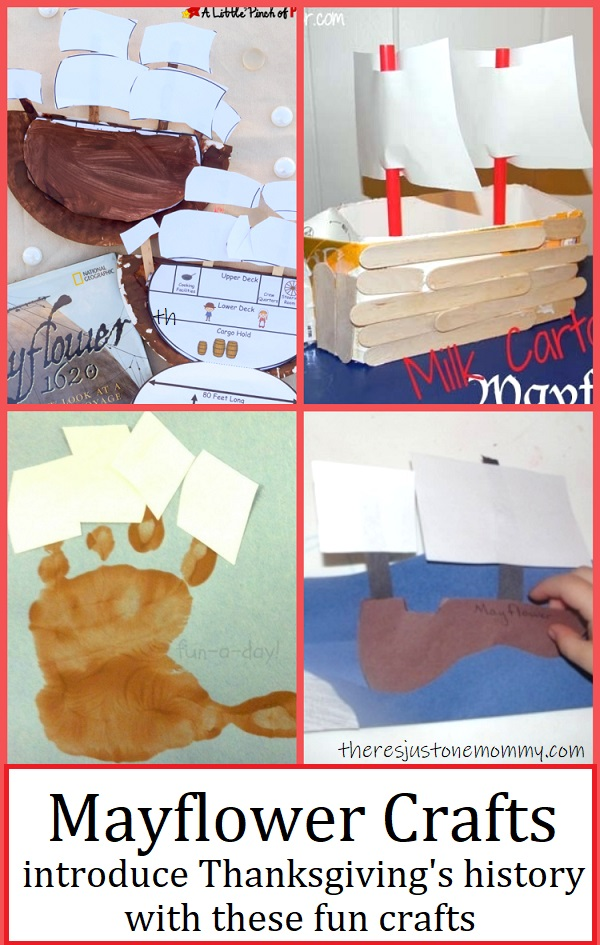 fun preschool & kindergarten Mayflower crafts