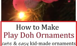 how to make ornaments from play doh