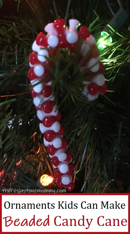 candy cane ornaments made of beads