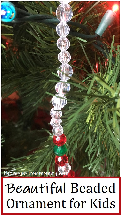 icicle ornament kids can make with beads
