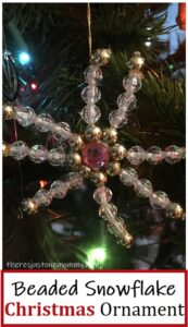 pretty snowflake ornament made with beads
