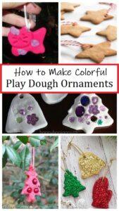 how to make play dough Christmas ornaments