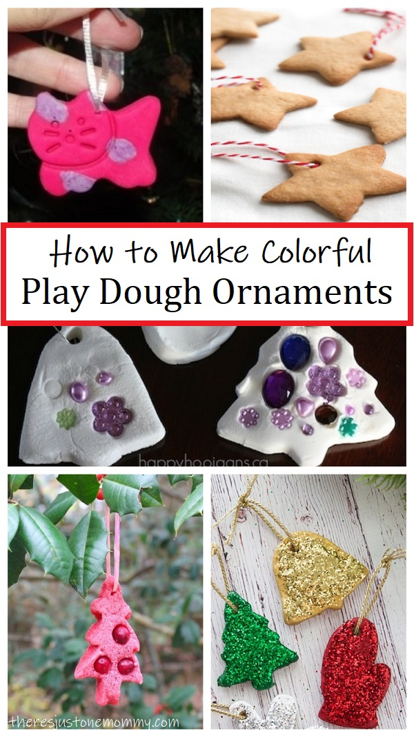 how to make play dough Christmas ornaments