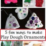 5 fun ways to make play dough ornaments