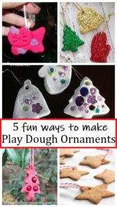 5 fun ways to make play dough ornaments