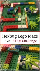 build a Hexbug Lego maze STEM challenge for kids
