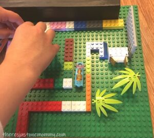 Lego maze engineering activity for kids