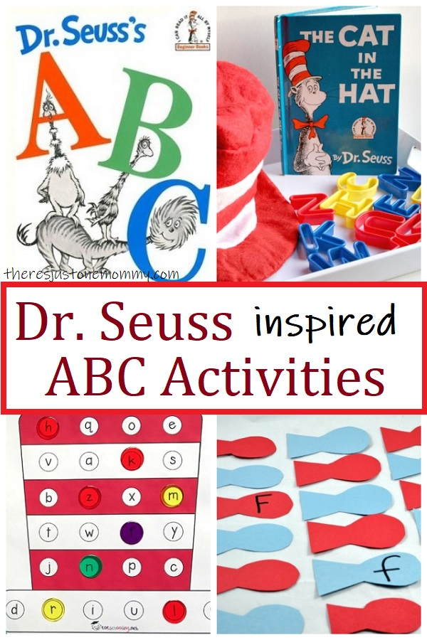 alphabet activitites inspired by Dr Seuss books