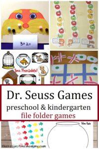 Dr. Seuss games for preschool & kindergarten