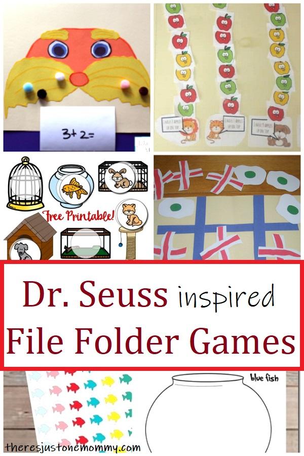 file folder games for Dr. Seuss