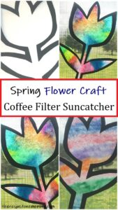 simple coffee filter suncatcher craft for spring
