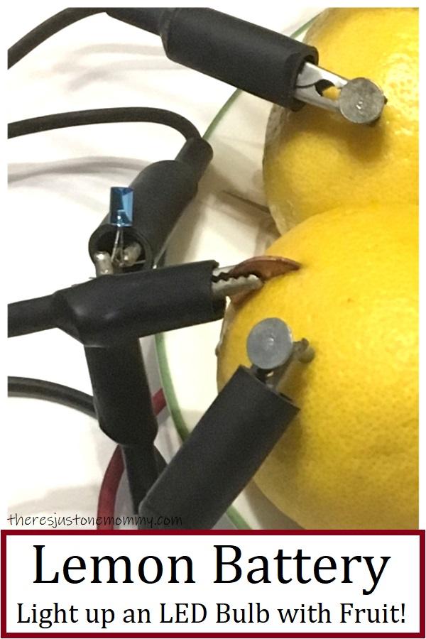 how to light an LED bulb with lemons