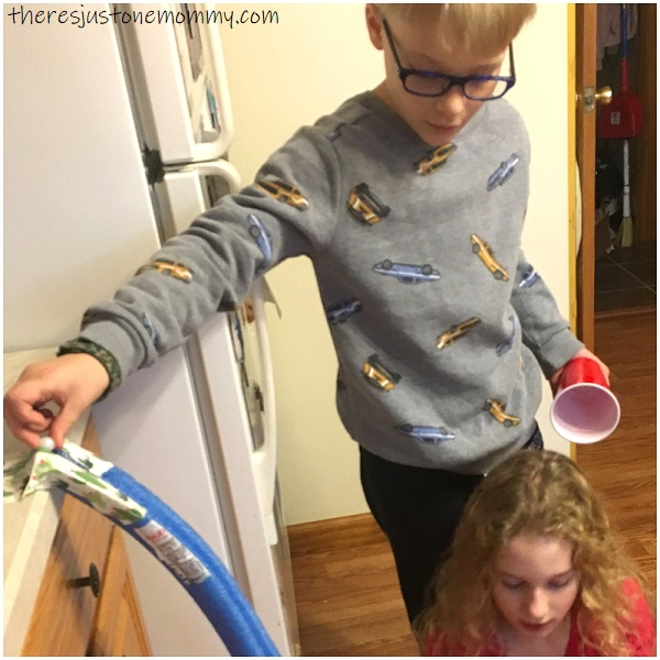 how to make a marble run with pool noodles