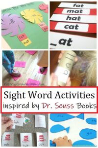 sight word activities inspired byDr Seuss
