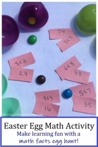 how to use plastic eggs for a fun math facts activity