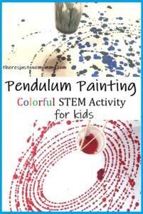 pendulum painting activity for kids