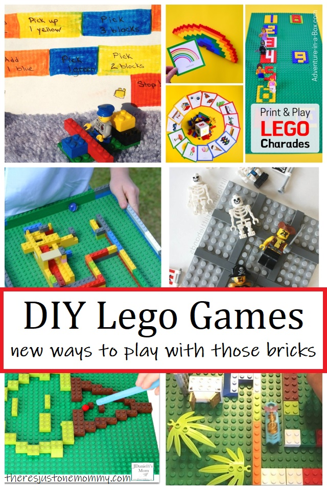 how to make your own DIY Lego games for kids