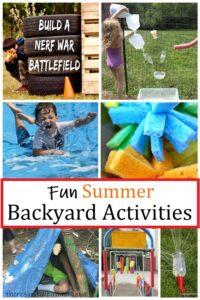 summer activities kids can do in the backyard