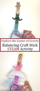 make a craft stick balance on its end with this STEAM activity