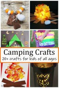 over 20 fun camping crafts