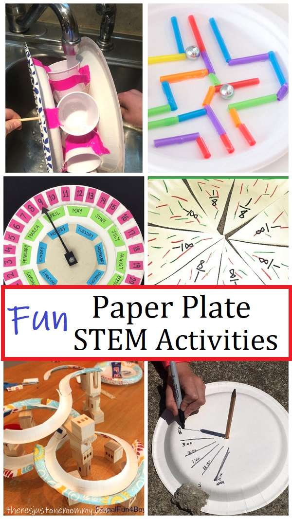 STEM challenges using paper plates