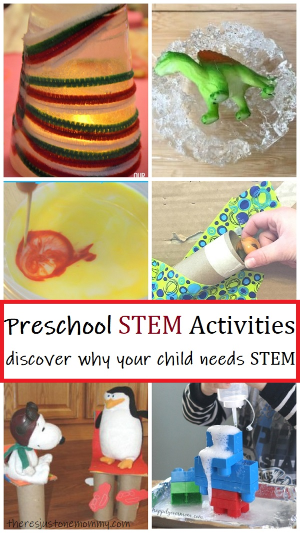 Stem Activities For Preschoolers There S Just One Mommy