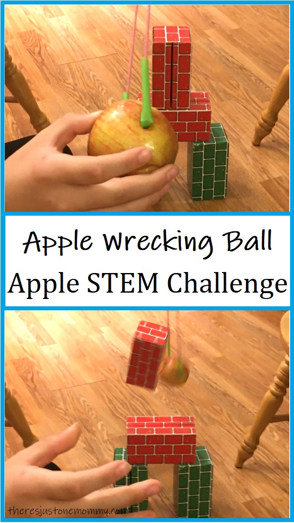 STEM activity with apples
