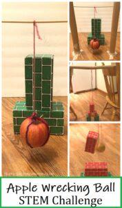 apple wrecking ball STEM challenge