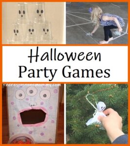 party games for kids Halloween party