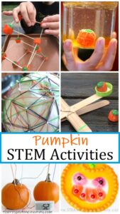 pumpkin themed STEM activities for kids