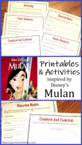 Disney Mulan movie worksheets & activities